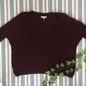 Maroon and White Sweater